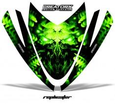 Arctic-Cat-M-Series-Crossfire-Hood-CreatorX-Graphics-Kit-Alien-Replicator-Green