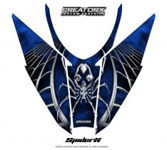 Arctic-Cat-Pro-Climb-Cross-2012-Hood-CreatorX-Graphics-Kit-SpiderX_Blue