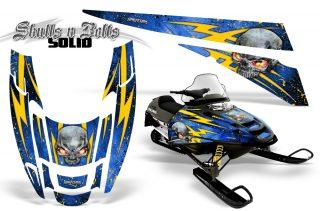 POLARIS-EDGE-XC-CreatorX-Graphics-Kit-Skulls-n-Bolts-Solid-Yellow-Blue