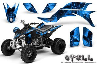 Yamaha-YFZ-450-03-08-CreatorX-Graphics-Kit-Spell-Blue