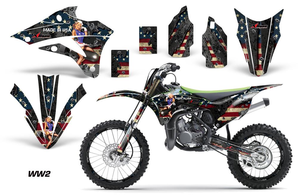 Kawasaki Decals Dimensions