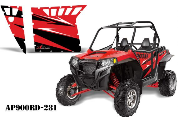 AMR PA OEM 900 Red AP900RD 281 570x376 - Polaris RZR 900 XP Graphics for Pro Armor Doors