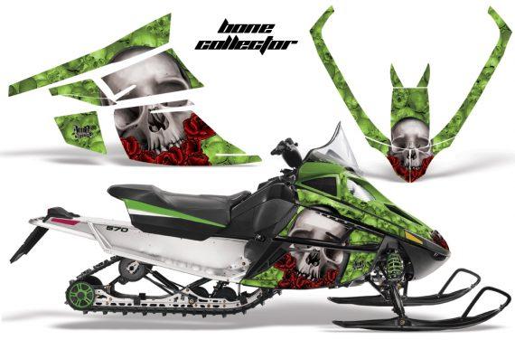 Arctic Cat F Series AMR Graphics BoneCollector Green 570x376 - Arctic Cat F Series F Series Z1 Bearcat 2000 Lynx Graphics