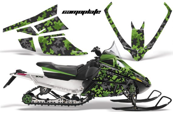 Arctic Cat F Series AMR Graphics Camoplate Green 570x376 - Arctic Cat F Series F Series Z1 Bearcat 2000 Lynx Graphics