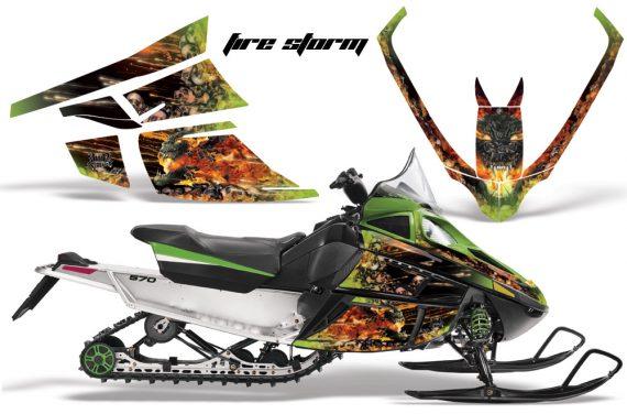 Arctic Cat F Series AMR Graphics Firestorm Green 570x376 - Arctic Cat F Series F Series Z1 Bearcat 2000 Lynx Graphics