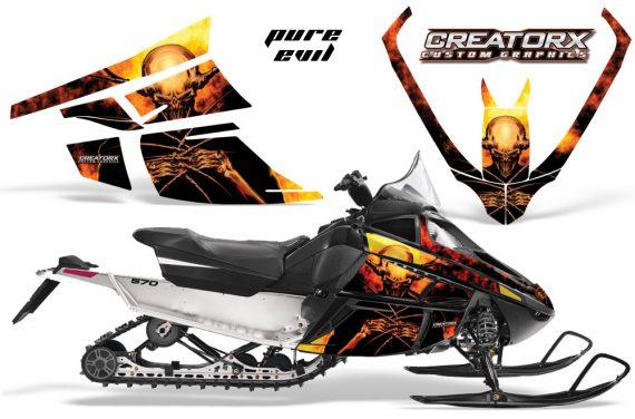 Arctic Cat F Series CreatorX Graphics Kit Pure Evil 570x376 - Arctic Cat F Series F Series Z1 Bearcat 2000 Lynx Graphics
