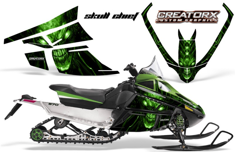 Arctic-Cat-F-Series-CreatorX-Graphics-Kit-Skull Chief-sm-Green-G