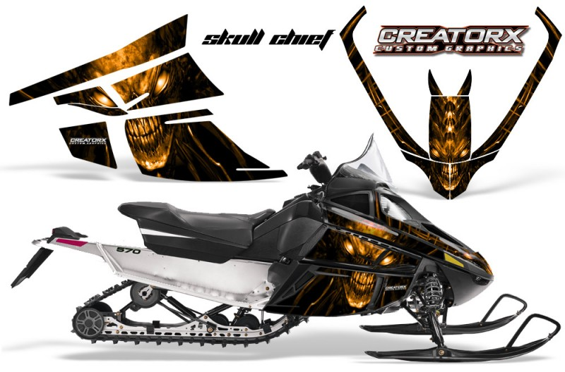 Arctic-Cat-F-Series-CreatorX-Graphics-Kit-Skull Chief-sm-Orange