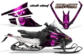 Arctic Cat F Series CreatorX Graphics Kit Skull Chief sm Pink 320x211 - Arctic Cat F Series Graphics