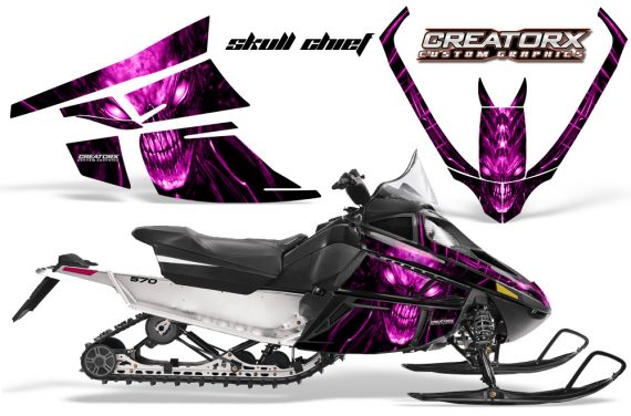 Arctic Cat F Series CreatorX Graphics Kit Skull Chief sm Pink 570x376 - Arctic Cat F Series F Series Z1 Bearcat 2000 Lynx Graphics