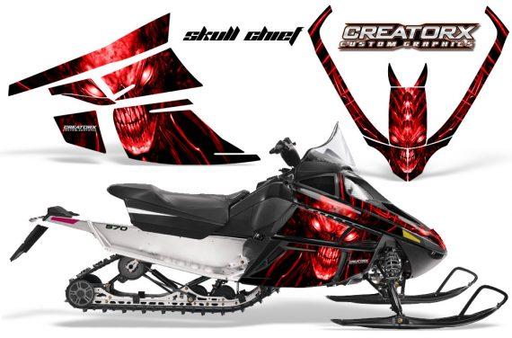 Arctic Cat F Series CreatorX Graphics Kit Skull Chief sm Red 570x376 - Arctic Cat F Series F Series Z1 Bearcat 2000 Lynx Graphics