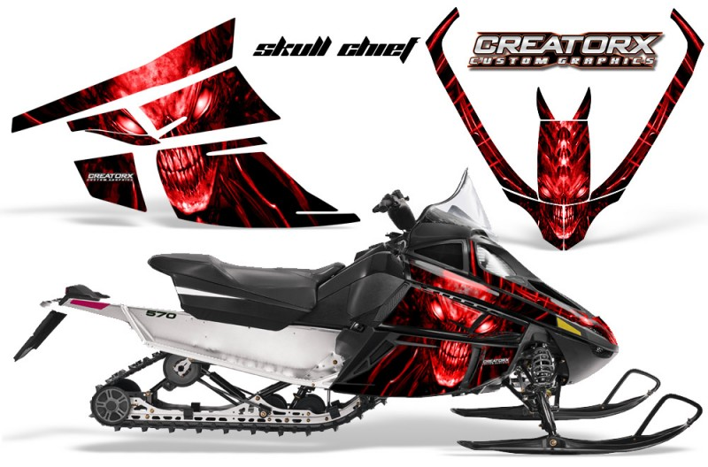 Arctic-Cat-F-Series-CreatorX-Graphics-Kit-Skull Chief-sm-Red