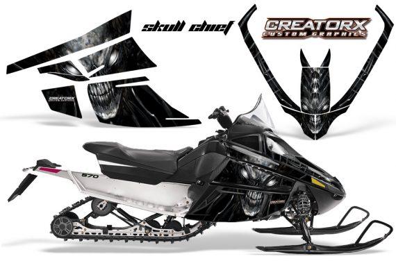 Arctic Cat F Series CreatorX Graphics Kit Skull Chief sm Silver 570x376 - Arctic Cat F Series F Series Z1 Bearcat 2000 Lynx Graphics