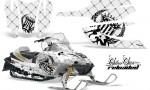 Arctic Cat Firecat AMR Graphics Kit Reloaded Black White 150x90 - Arctic Cat Firecat Sabercat F5 F6 F7 2003-2006 Graphics