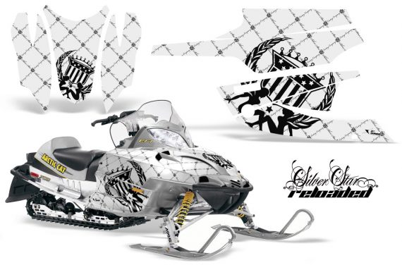 Arctic Cat Firecat AMR Graphics Kit Reloaded Black White 570x376 - Arctic Cat Firecat Sabercat F5 F6 F7 2003-2006 Graphics