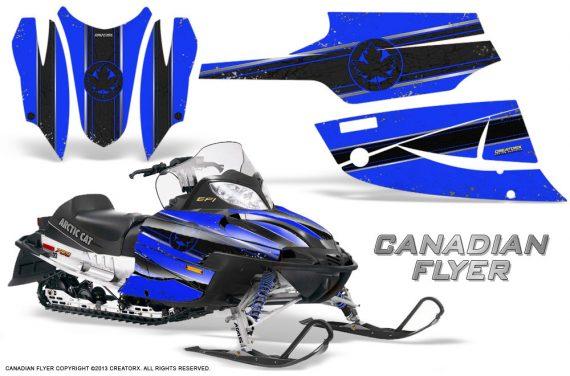 Arctic Cat Firecat CreatorX Graphics Kit Canadian Flyer Black Blue 570x376 - Arctic Cat Firecat Sabercat F5 F6 F7 2003-2006 Graphics