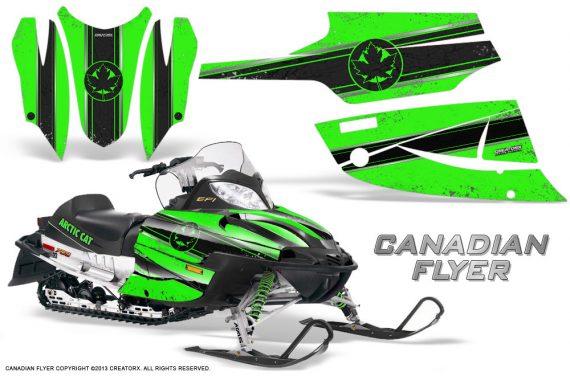 Arctic Cat Firecat CreatorX Graphics Kit Canadian Flyer Black Green 570x376 - Arctic Cat Firecat Sabercat F5 F6 F7 2003-2006 Graphics