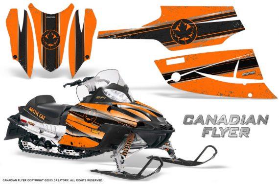 Arctic Cat Firecat CreatorX Graphics Kit Canadian Flyer Black Orange 570x376 - Arctic Cat Firecat Sabercat F5 F6 F7 2003-2006 Graphics