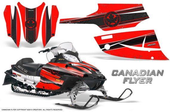 Arctic Cat Firecat CreatorX Graphics Kit Canadian Flyer Black Red 570x376 - Arctic Cat Firecat Sabercat F5 F6 F7 2003-2006 Graphics