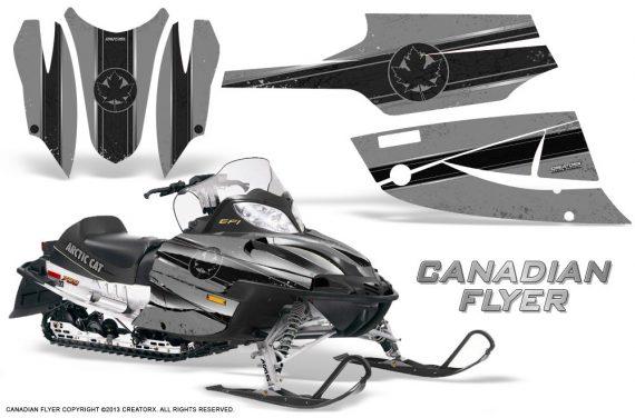 Arctic Cat Firecat CreatorX Graphics Kit Canadian Flyer Black Silver 570x376 - Arctic Cat Firecat Sabercat F5 F6 F7 2003-2006 Graphics