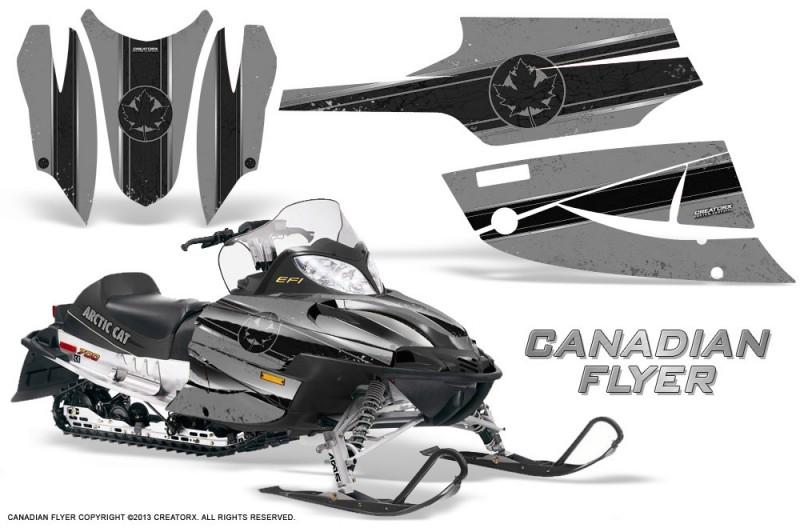 Arctic-Cat-Firecat-CreatorX-Graphics-Kit-Canadian-Flyer-Black-Silver