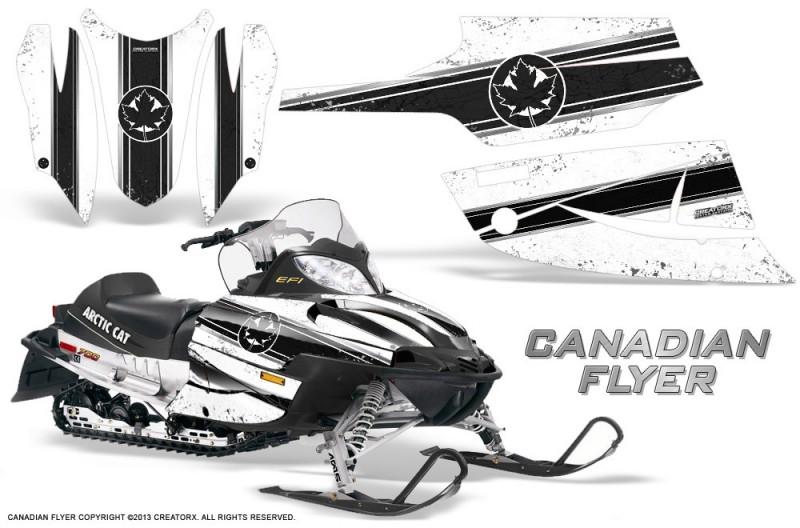 Arctic-Cat-Firecat-CreatorX-Graphics-Kit-Canadian-Flyer-Black-White