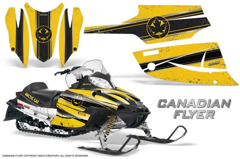 Arctic-Cat-Firecat-CreatorX-Graphics-Kit-Canadian-Flyer-Black-Yellow