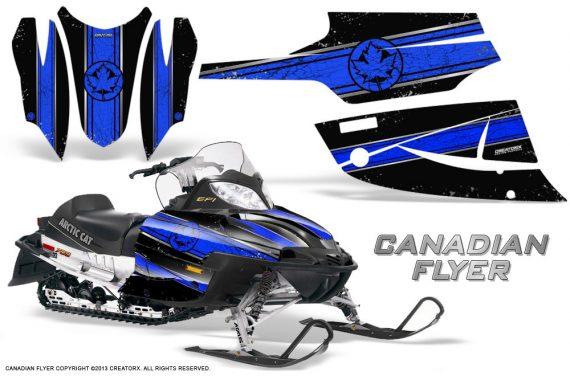 Arctic Cat Firecat CreatorX Graphics Kit Canadian Flyer Blue Black 570x376 - Arctic Cat Firecat Sabercat F5 F6 F7 2003-2006 Graphics