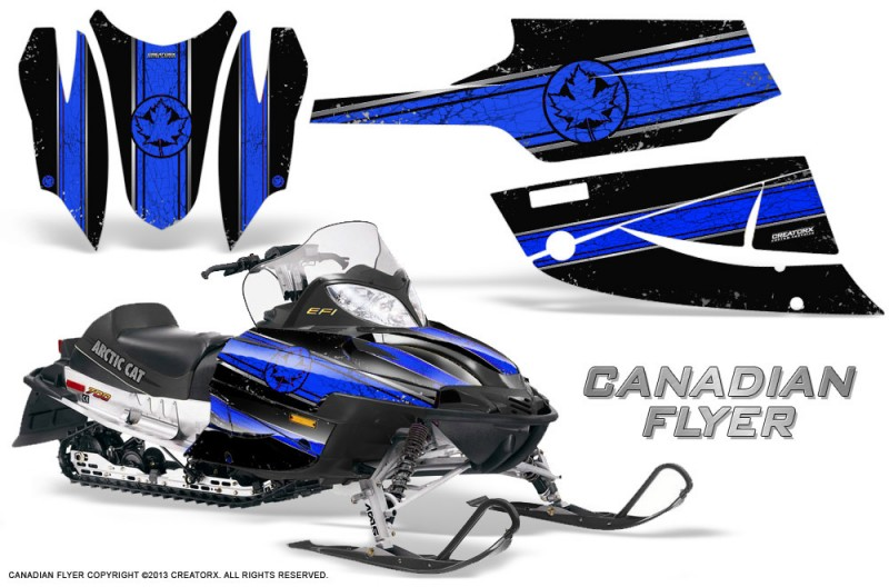 Arctic-Cat-Firecat-CreatorX-Graphics-Kit-Canadian-Flyer-Blue-Black