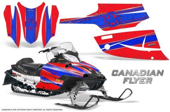 Arctic Cat Firecat CreatorX Graphics Kit Canadian Flyer Blue Red 570x376 - Arctic Cat Firecat Sabercat F5 F6 F7 2003-2006 Graphics