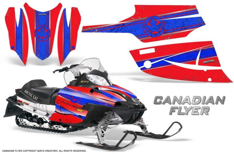 Arctic-Cat-Firecat-CreatorX-Graphics-Kit-Canadian-Flyer-Blue-Red