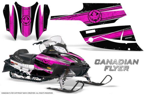 Arctic Cat Firecat CreatorX Graphics Kit Canadian Flyer Pink Black 570x376 - Arctic Cat Firecat Sabercat F5 F6 F7 2003-2006 Graphics