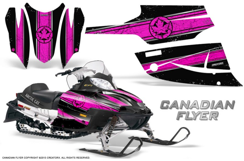 Arctic-Cat-Firecat-CreatorX-Graphics-Kit-Canadian-Flyer-Pink-Black
