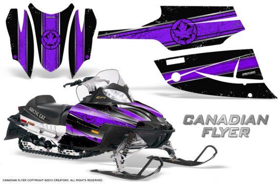 Arctic Cat Firecat CreatorX Graphics Kit Canadian Flyer Purple Black 570x376 - Arctic Cat Firecat Sabercat F5 F6 F7 2003-2006 Graphics