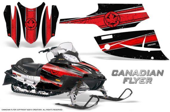 Arctic Cat Firecat CreatorX Graphics Kit Canadian Flyer Red Black 570x376 - Arctic Cat Firecat Sabercat F5 F6 F7 2003-2006 Graphics