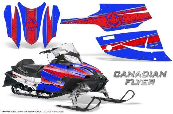 Arctic Cat Firecat CreatorX Graphics Kit Canadian Flyer Red Blue 570x376 - Arctic Cat Firecat Sabercat F5 F6 F7 2003-2006 Graphics