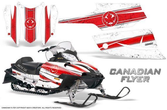 Arctic Cat Firecat CreatorX Graphics Kit Canadian Flyer Red White 570x376 - Arctic Cat Firecat Sabercat F5 F6 F7 2003-2006 Graphics