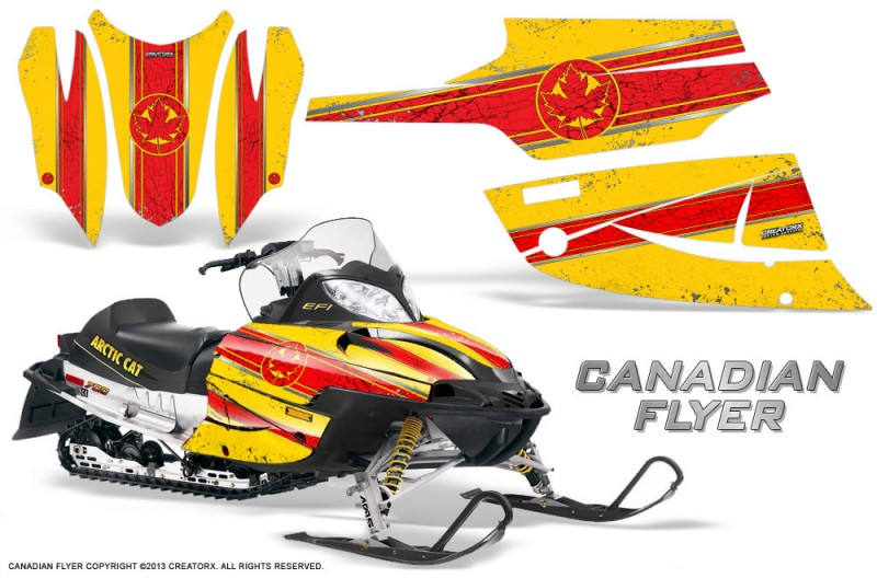 Arctic-Cat-Firecat-CreatorX-Graphics-Kit-Canadian-Flyer-Red-Yellow