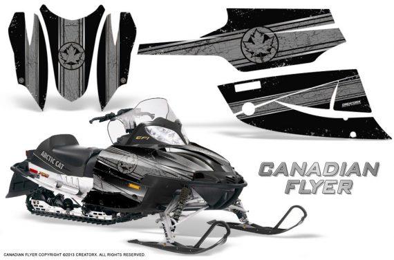 Arctic Cat Firecat CreatorX Graphics Kit Canadian Flyer Silver Black 570x376 - Arctic Cat Firecat Sabercat F5 F6 F7 2003-2006 Graphics