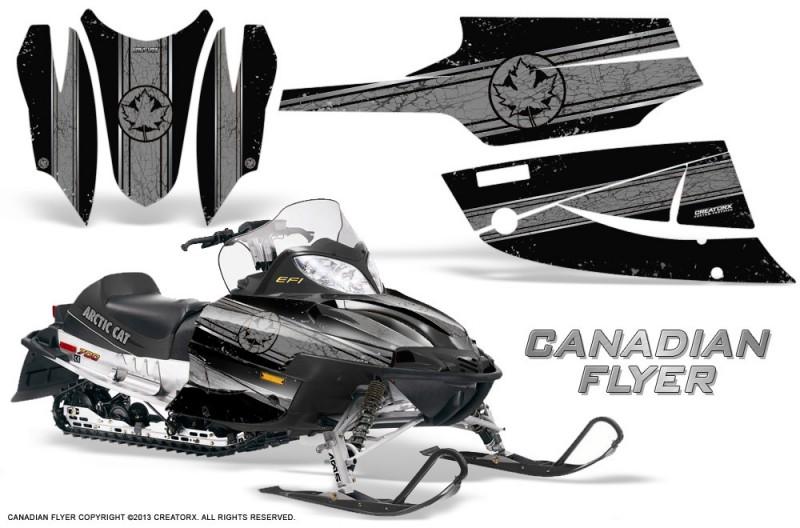 Arctic-Cat-Firecat-CreatorX-Graphics-Kit-Canadian-Flyer-Silver-Black