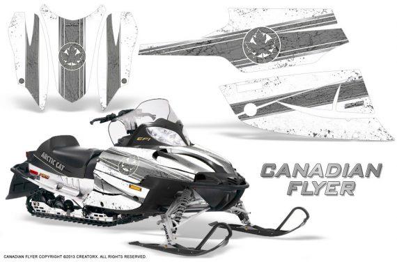Arctic Cat Firecat CreatorX Graphics Kit Canadian Flyer Silver White 570x376 - Arctic Cat Firecat Sabercat F5 F6 F7 2003-2006 Graphics