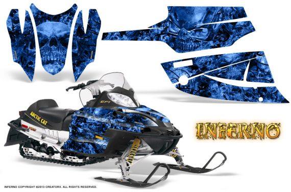 Arctic Cat Firecat CreatorX Graphics Kit Inferno Blue 570x376 - Arctic Cat Firecat Sabercat F5 F6 F7 2003-2006 Graphics