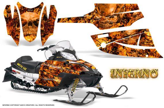 Arctic Cat Firecat CreatorX Graphics Kit Inferno Orange 570x376 - Arctic Cat Firecat Sabercat F5 F6 F7 2003-2006 Graphics