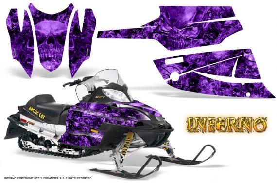 Arctic Cat Firecat CreatorX Graphics Kit Inferno Purple 570x376 - Arctic Cat Firecat Sabercat F5 F6 F7 2003-2006 Graphics