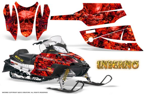 Arctic Cat Firecat CreatorX Graphics Kit Inferno Red 570x376 - Arctic Cat Firecat Sabercat F5 F6 F7 2003-2006 Graphics