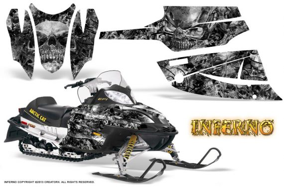 Arctic Cat Firecat CreatorX Graphics Kit Inferno Silver 570x376 - Arctic Cat Firecat Sabercat F5 F6 F7 2003-2006 Graphics