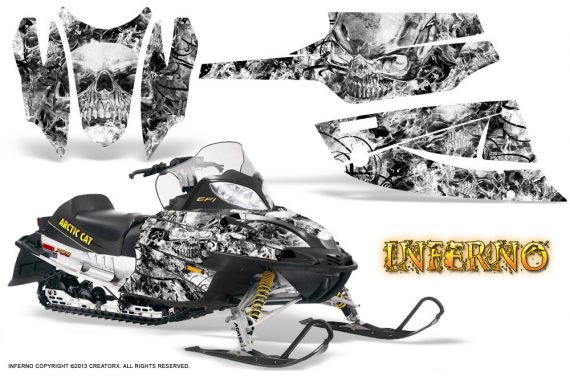 Arctic Cat Firecat CreatorX Graphics Kit Inferno White 570x376 - Arctic Cat Firecat Sabercat F5 F6 F7 2003-2006 Graphics