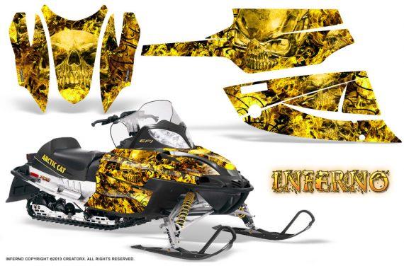 Arctic Cat Firecat CreatorX Graphics Kit Inferno Yellow 570x376 - Arctic Cat Firecat Sabercat F5 F6 F7 2003-2006 Graphics