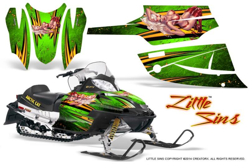 Arctic-Cat-Firecat-CreatorX-Graphics-Kit-Little-Sins-Green