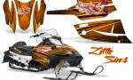 Arctic Cat Firecat CreatorX Graphics Kit Little Sins Orange 150x90 - Arctic Cat Firecat Sabercat F5 F6 F7 2003-2006 Graphics
